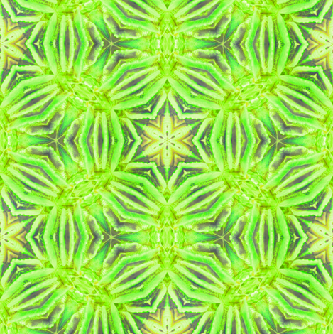 Lime Coral Kaliedoscope fabric by alainasdesigns on Spoonflower - custom fabric