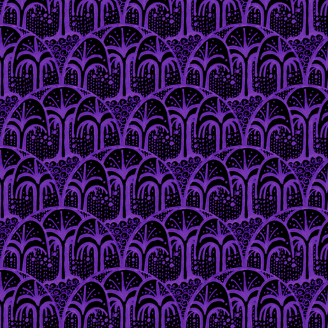Living Earth - Night fabric by siya on Spoonflower - custom fabric