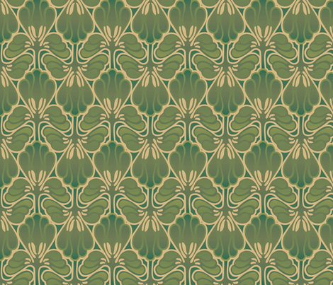 Art Nouveau Camo Fantasy fabric by hannafate on Spoonflower - custom fabric