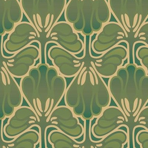 art nouveau fabric, wallpaper & gift wrap - Spoonflower