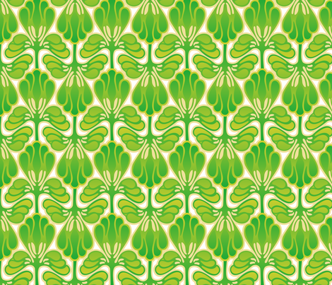 Art Nouveau Spring Green fabric by hannafate on Spoonflower - custom fabric
