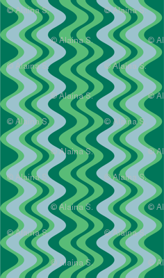 wave pattern emerald