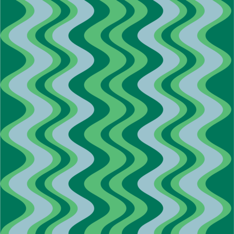 wave pattern emerald fabric by alainasdesigns on Spoonflower - custom fabric