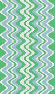 wave pattern mint
