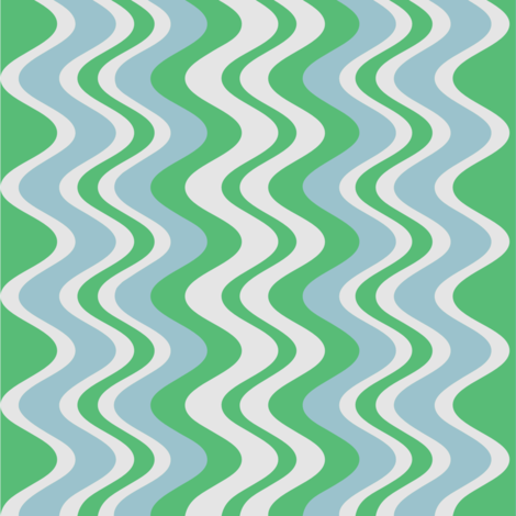wave pattern mint fabric by alainasdesigns on Spoonflower - custom fabric