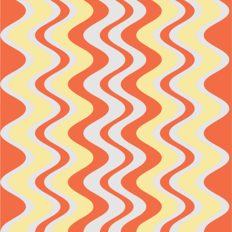 wave pattern coral fabric by alainasdesigns on Spoonflower - custom fabric