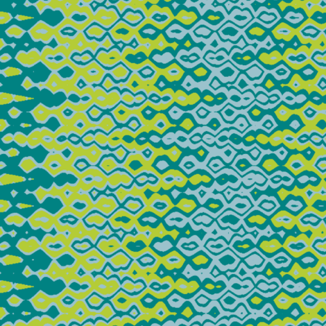 Bubbles Blue-Lime Print fabric by alainasdesigns on Spoonflower - custom fabric