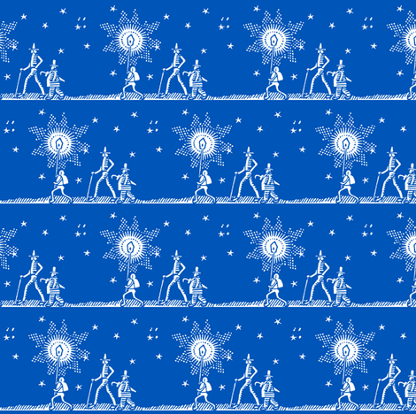 midnight stroll blue fabric by keweenawchris on Spoonflower - custom fabric