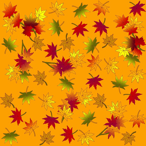 Autumn leaves in Wild Orange ©indigodaze 2013