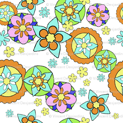 Mod Flowers Muted