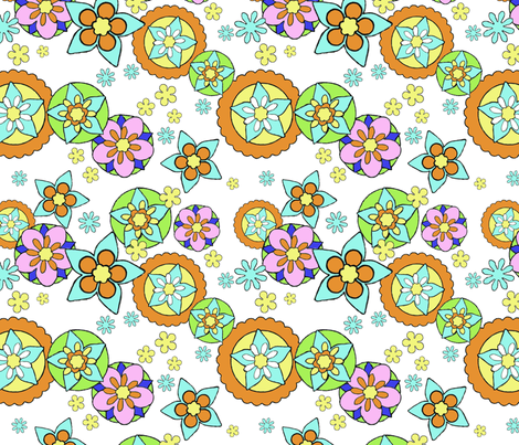 Mod Flowers Muted fabric by vinpauld on Spoonflower - custom fabric