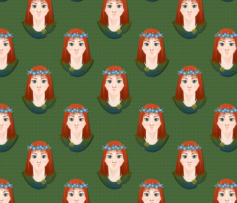 Celtic Princesses fabric by glimmericks on Spoonflower - custom fabric