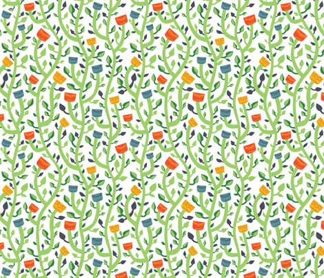 flat and bright fabric by khandisha on Spoonflower - custom fabric