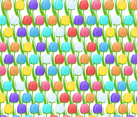 tulips fabric by khandisha on Spoonflower - custom fabric