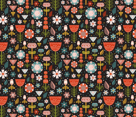 flowee! fabric by khandisha on Spoonflower - custom fabric