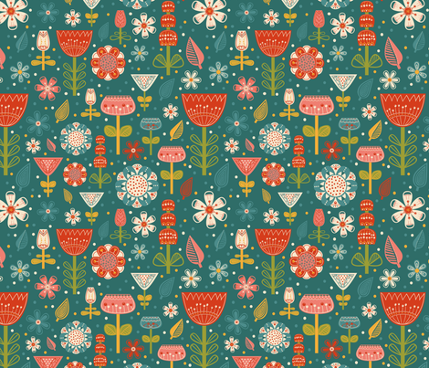 summertime fabric by dinaramay on Spoonflower - custom fabric