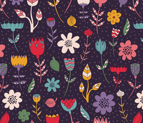 florals fabric by khandisha on Spoonflower - custom fabric