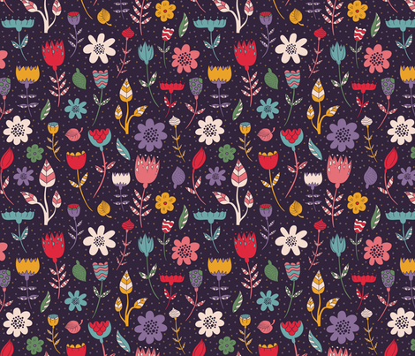 florals fabric by dinaramay on Spoonflower - custom fabric