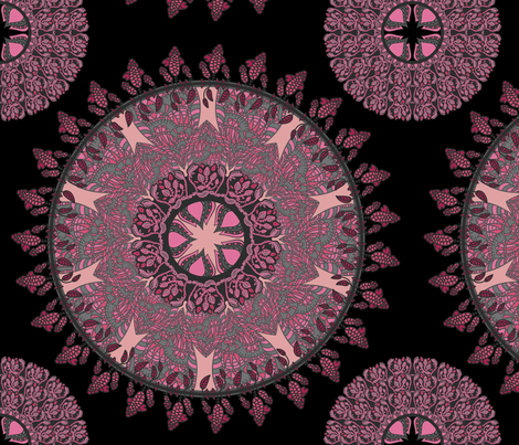 floral ornament fabric by khandisha on Spoonflower - custom fabric