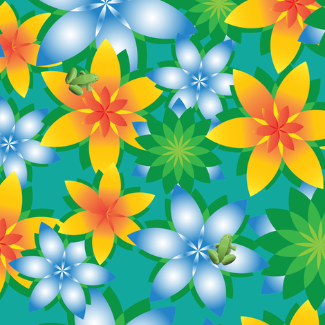 Hawaii_Frog-O fabric by ttpie on Spoonflower - custom fabric