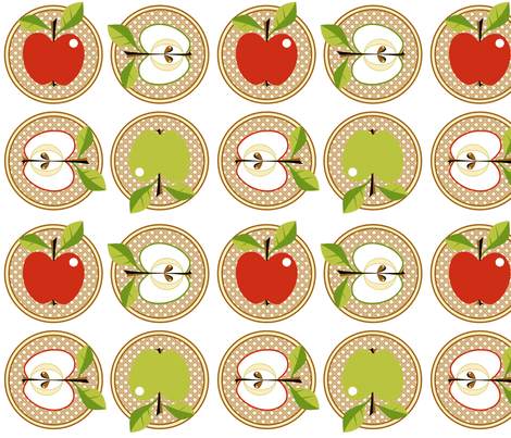 Snow white or Granny Smith?! fabric by moirarae on Spoonflower - custom fabric