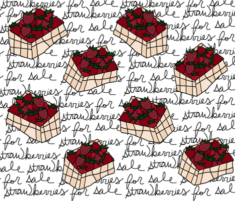 Strawberries For Sale fabric by acrawley on Spoonflower - custom fabric