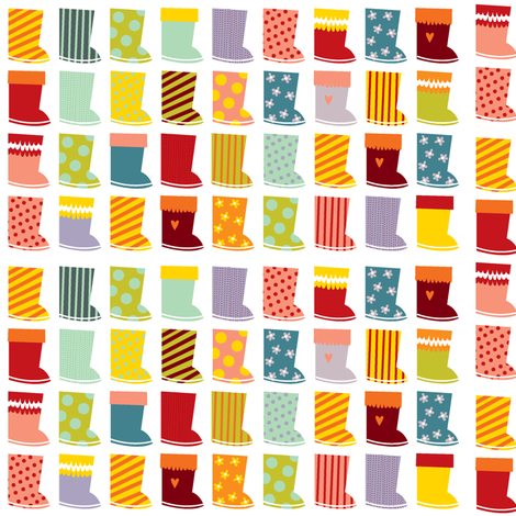 Wellies fabric by laura_the_drawer on Spoonflower - custom fabric