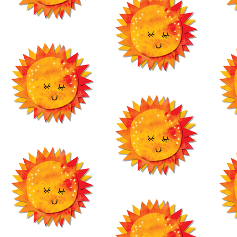 Sun fabric by laura_the_drawer on Spoonflower - custom fabric