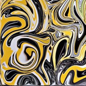 Yellow & Black swirl x Large