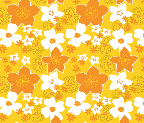 Mod Floral Yellow and Orange