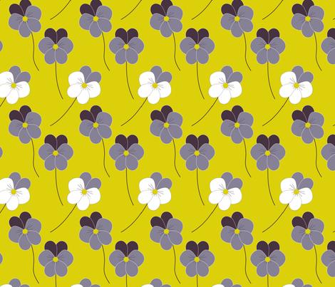 Love-in-idleness (pansies) fabric by itsahootdesigns on Spoonflower - custom fabric