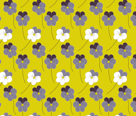 Love-in-idleness (pansies) fabric by itsahootdesigns on Spoonflower - custom fabric