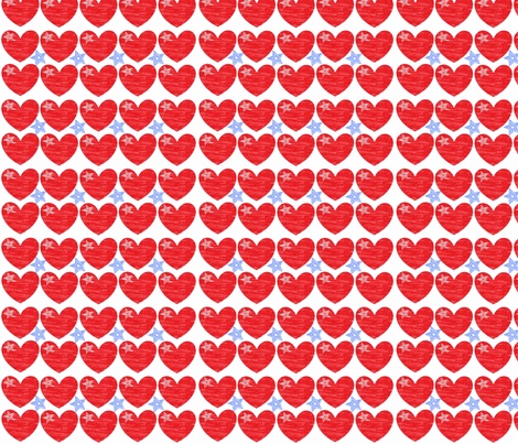 I Heart the USA fabric by vos_designs on Spoonflower - custom fabric
