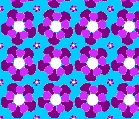 Purple flower fabric by itsahootdesigns on Spoonflower - custom fabric