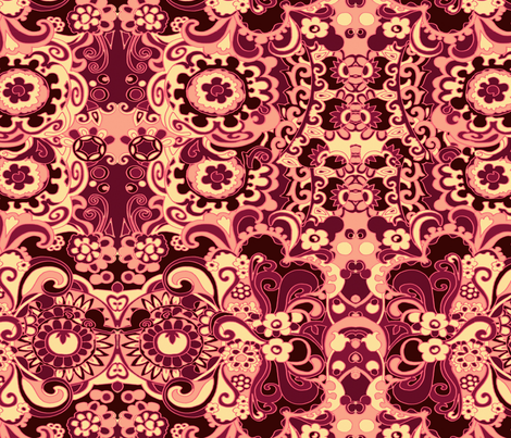 Mad_Flower Vintage fabric by chicca_besso on Spoonflower - custom fabric