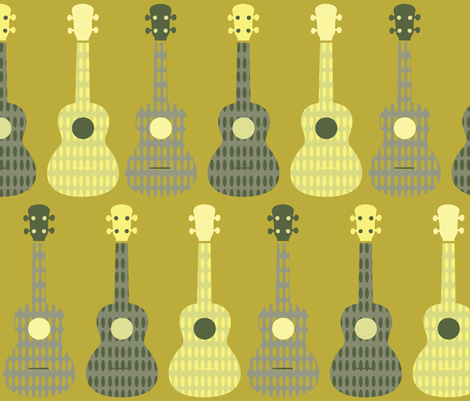 Ukulele - 10 fabric by owlandchickadee on Spoonflower - custom fabric