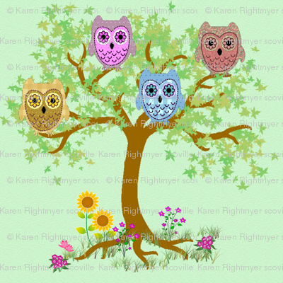 owls in the tree