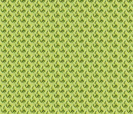 Pear_Green_Leaf fabric by kelly_a on Spoonflower - custom fabric