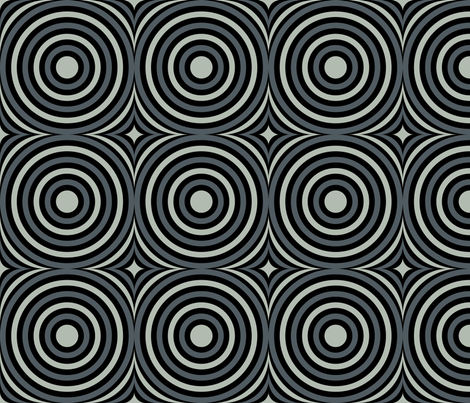 Grey Mod Circles fabric by modgeek on Spoonflower - custom fabric