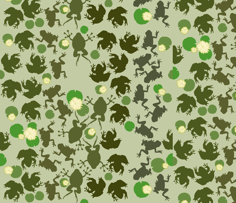 frogs fabric by yourfriendamy on Spoonflower - custom fabric