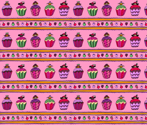 Cupcake Girls  fabric by super_hoot on Spoonflower - custom fabric