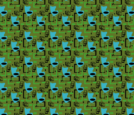 modegg blue fabric by fiona_sinclair_design on Spoonflower - custom fabric