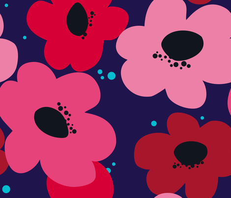 Bold Mama {navy} fabric by printablegirl on Spoonflower - custom fabric