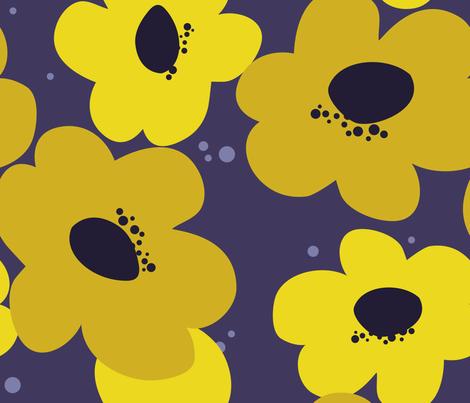 Bold Mama {purple} fabric by printablegirl on Spoonflower - custom fabric