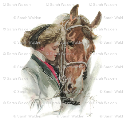 "The Equestrian & The Horse 18"" pillow square"