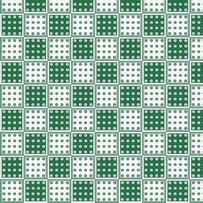 Flower Squares Small - Green