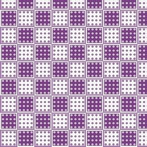 Flower Squares Small - Purple
