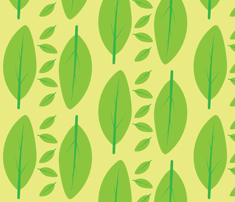 Fresh spring leafs fabric by sketchbook on Spoonflower - custom fabric
