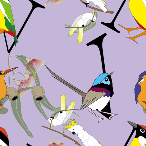 birdwrap-purple fabric by fiona_sinclair_design on Spoonflower - custom fabric