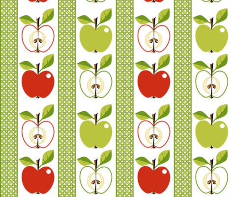 Apple - Cordon or Minarette! fabric by moirarae on Spoonflower - custom fabric